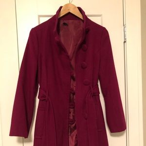 EUC Magenta Fall/Spring Coat